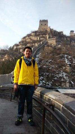 冬令营期间攀登万里长城-杨智达
